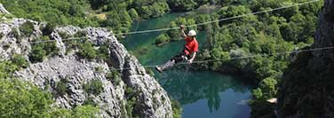 Adventure tourism - Zip line Omis