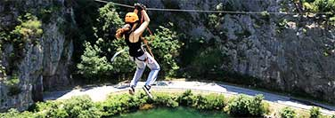 Adventure tourism - Zip line Dugi Rat