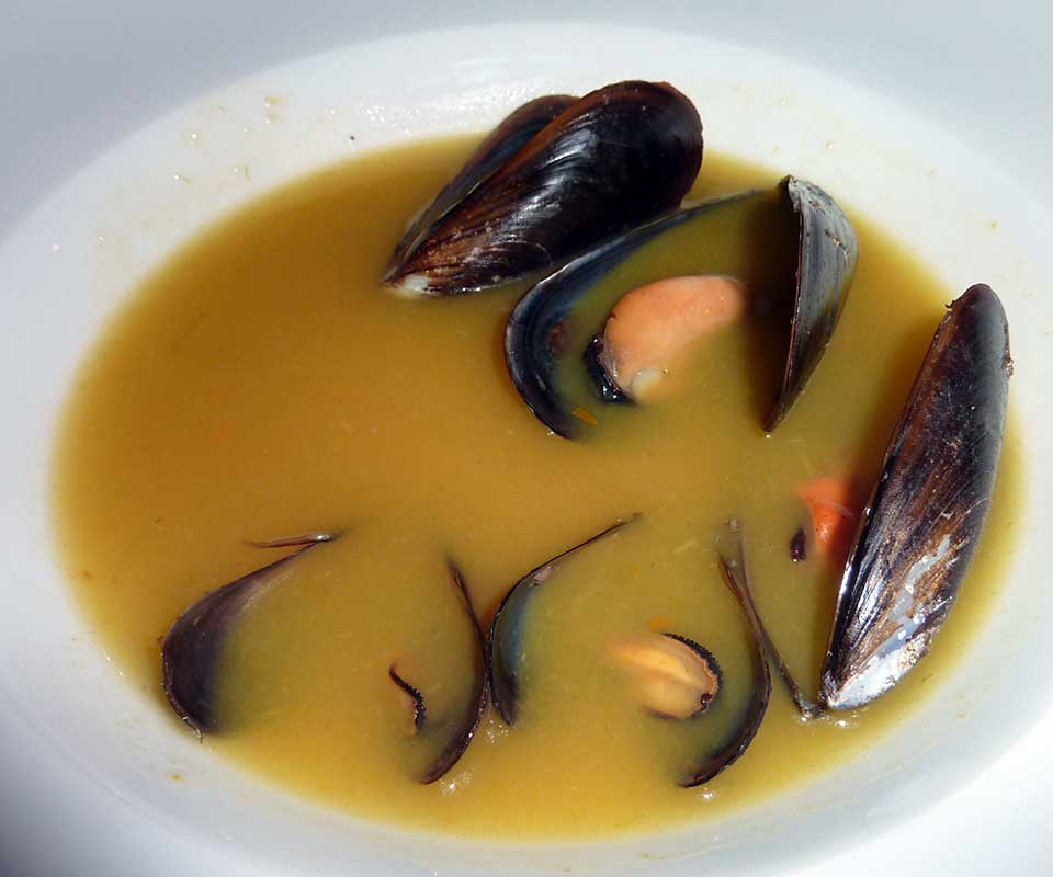 Soup of mussels