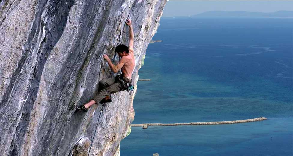 Active vacations - extreme sports - free climbing