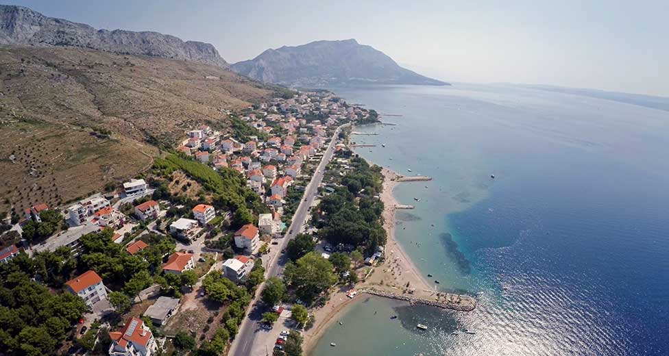 Duće riviera from the air